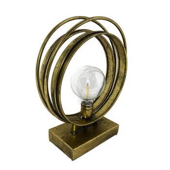 Luminaria Metal Ouro Velho