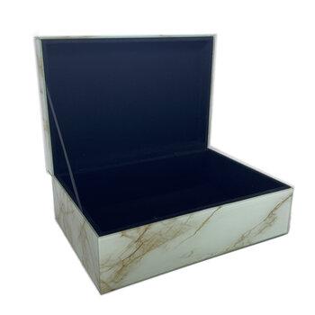 Caixa de Vidro Marmorizado D&b M