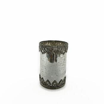 Castiçal de Vidro Prata