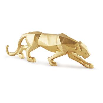 Escultura Leopardo Ao Ataque G
