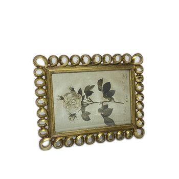 Porta  Retrato Elos 15x20 Dourado