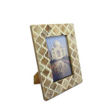 Porta Retrato de Marfim 10x15 Arabesco