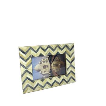 Porta Retrato de Marfim 10x15 Zig-zag