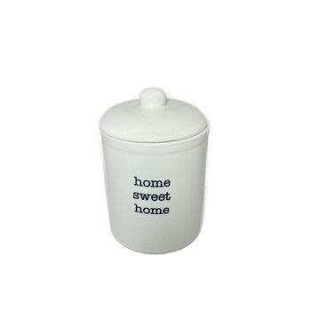 Potiche Porcelana Home Sweet Branco