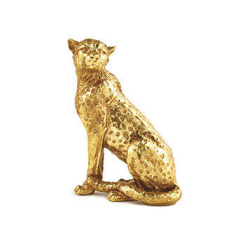 Escultura Leopardo Sentado P