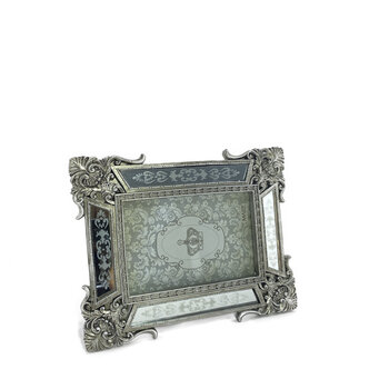 Porta Retrato Clássico Prata - 10x15