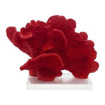 Coral Vermelho Resina Com Base Acrílico